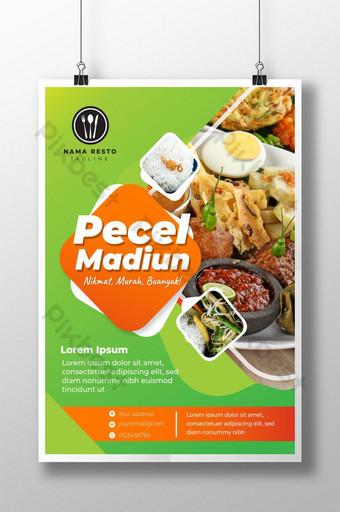 pecel poster món ăn indonesia Bản mẫu AI