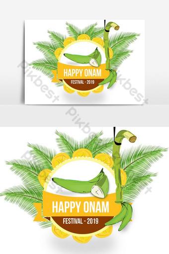 مهرجان مجتمع ولاية كيرالا سعيد احتفالات أونام تصميم بطاقات المعايدة صور PNG قالب PSD