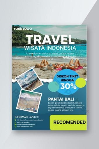 brosur pantai bali wisata indonesia Templat AI
