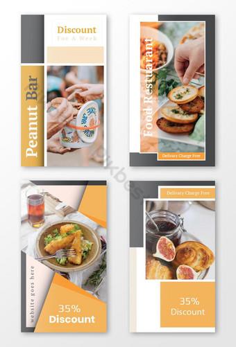 Pack d'histoires Instagram à rabais sur la nourriture Modèle AI