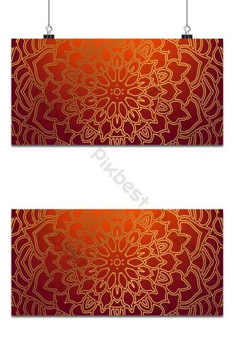 diseño de vector de papel tapiz floral mandala de encaje europeo Elementos graficos Modelo EPS