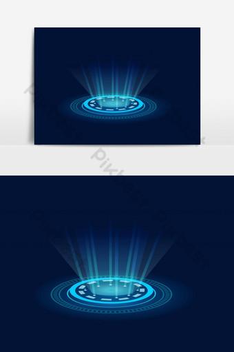 ilustração em vetor de elemento gráfico vetorial de conceito de tecnologia de portal warp Elementos gráficos Modelo EPS