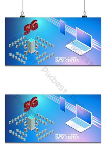 Internet de alta velocidad inalámbrica de comunicación 5g con centro de datos con fondo de placa de circuito Fondos Modelo AI