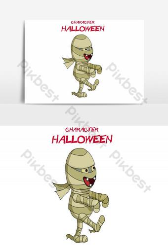 feliz halloween avatar despertar elemento gráfico vectorial zombie Elementos graficos Modelo AI