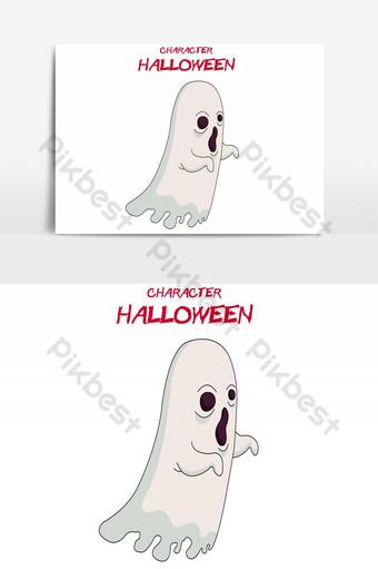 feliz halloween avatar fantasma errante elemento gráfico vectorial Elementos graficos Modelo AI