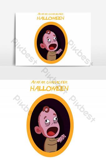 feliz halloween avatar bebé vector elemento gráfico Elementos graficos Modelo AI