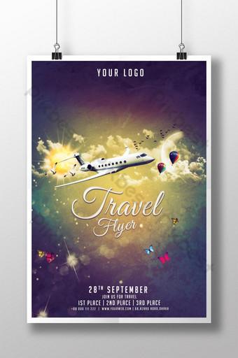 قالب ملصق السفر والسياحة قالب PSD