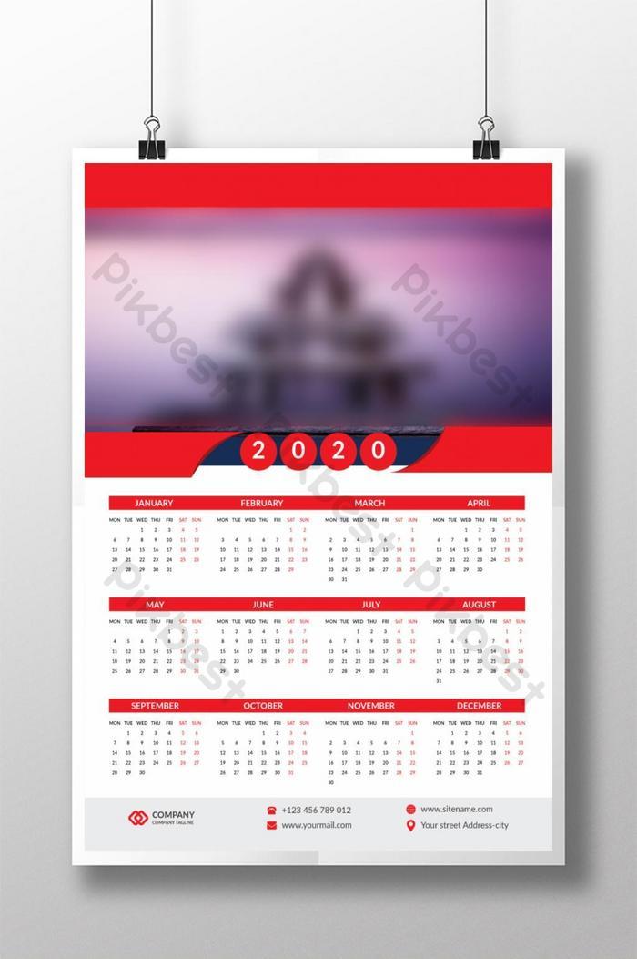 Download 37+ 21+ Template Kalender Dinding 2020 Desain ...