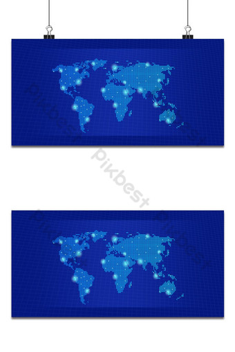 Fond bleu, technologie numérique, concept, carte, fond Fond Modèle PSD