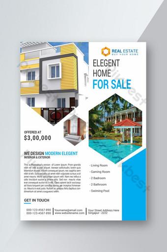 Dépliant immobilier d'entreprise Modèle PSD