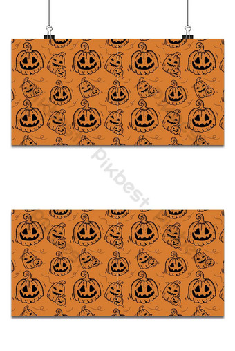 Fondo de contorno de calabaza de patrones sin fisuras de vacaciones de Halloween Fondos Modelo EPS