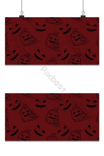 Halloween vacaciones de patrones sin fisuras contorno de calabaza fondo oscuro Fondos Modelo EPS