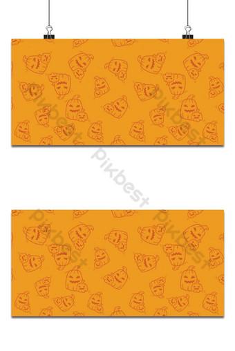 Fondo de marca de agua naranja de patrones sin fisuras de vacaciones de Halloween Fondos Modelo EPS