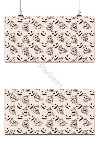 fiesta de halloween de patrones sin fisuras fondo rosa pálido Fondos Modelo EPS