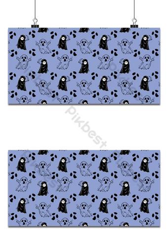 vacaciones de halloween de patrones sin fisuras fondo azul Fondos Modelo EPS