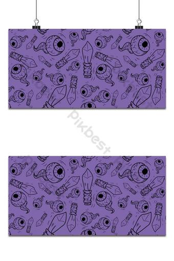 fiesta de halloween, seamless, patrón, fondo púrpura Fondos Modelo EPS