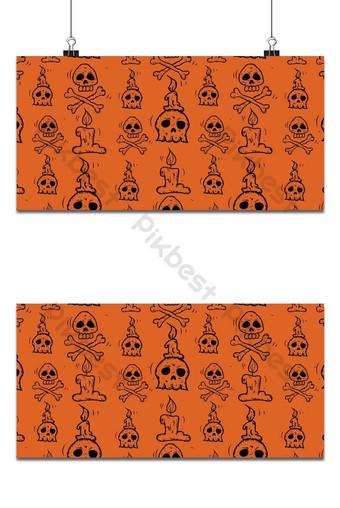vacaciones de halloween patrones sin fisuras fondo naranja Fondos Modelo EPS