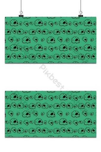 fiesta de halloween, seamless, patrón, fondo verde Fondos Modelo EPS