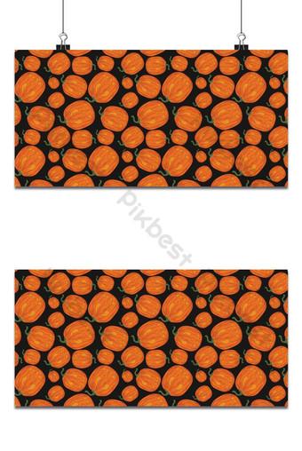 fiesta de halloween, seamless, patrón, fondo naranja Fondos Modelo EPS