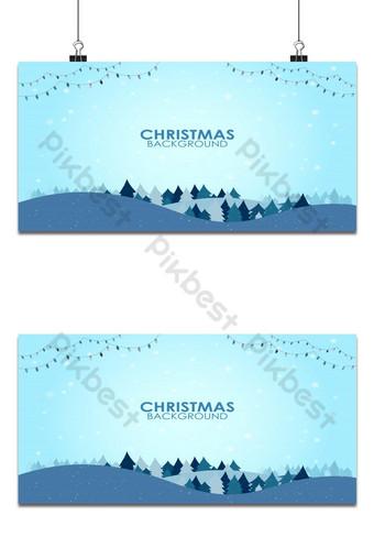 paisaje de diseño plano de temporada de invierno con fondo de saludo de feliz año nuevo de árbol de navidad Fondos Modelo AI