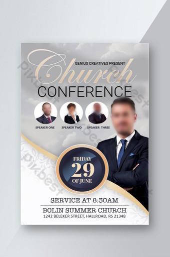 pamflet konferensi gereja Templat PSD