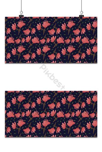 pequeño patrón floral transparente flores de magnolia deja fondo exótico Fondos Modelo EPS