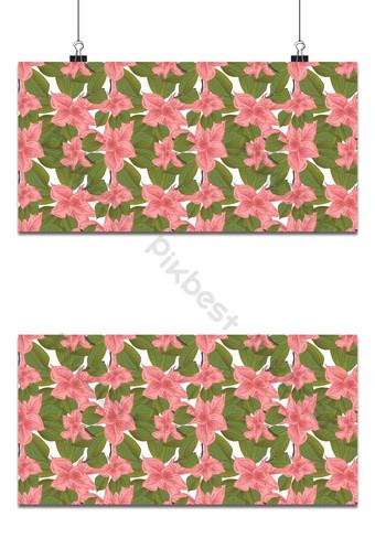 pequeños patrones florales inconsútiles flores de magnolia y hojas de fondo exótico Fondos Modelo PSD