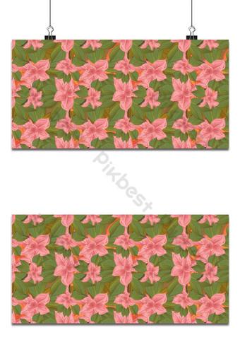 Pequeño patrón floral transparente flores de magnolia y hojas de fondo exótico Fondos Modelo EPS
