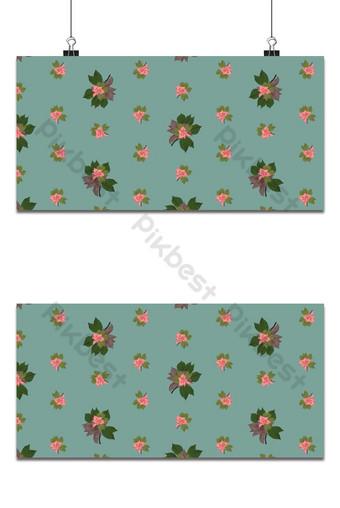 Seamless patrón floral pequeño magnolia flores y hojas de fondo azul exótico Fondos Modelo EPS