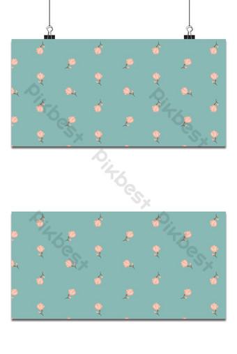 Seamless patrón floral pequeño magnolia flores y hojas de fondo de patrón índigo exótico Fondos Modelo EPS