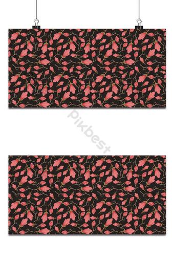 Pequeño patrón floral transparente flores de magnolia y hojas de fondo de patrones exóticos Fondos Modelo EPS