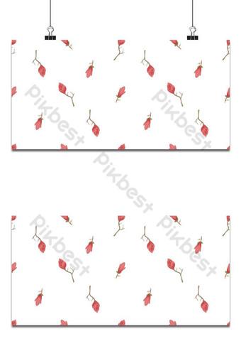 Seamless pequeño patrón floral magnolia flores y hojas exóticas fondo blanco. Fondos Modelo EPS