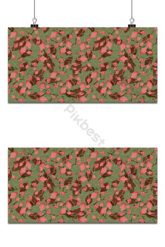 Seamless pequeño patrón floral magnolia flores y hojas exótico fondo caqui Fondos Modelo EPS