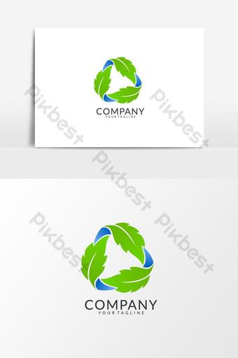 rotación verde hojas logo vector elemento gráfico Elementos graficos Modelo AI