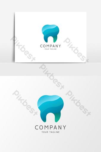 Élément graphique vectoriel du logo clinique dentaire élégant Éléments graphiques Modèle AI