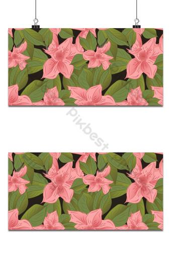 pequeña magnolia floral lindo patrón transparente fondo rosa y verde Fondos Modelo EPS