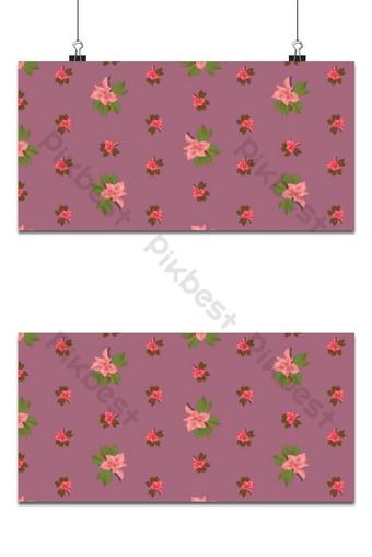 pequeña magnolia floral lindo patrón transparente fondo púrpura Fondos Modelo EPS