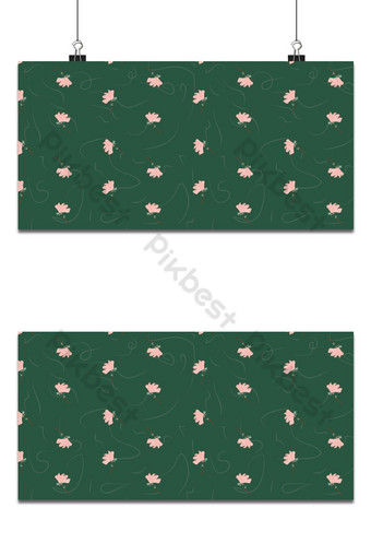 pequeña magnolia floral lindo patrón transparente fondo verde Fondos Modelo EPS