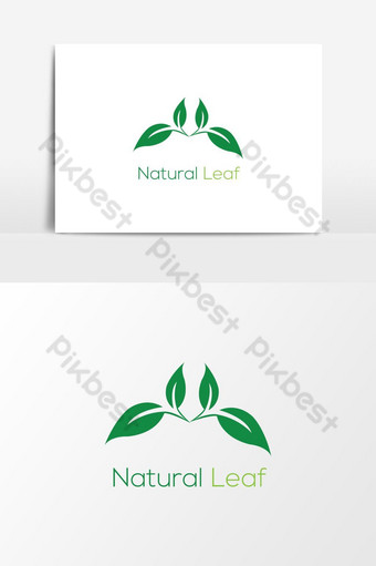 مفهوم شعار الورقة الخضراء الطبيعية ناقلات عنصر الرسم صور PNG قالب AI