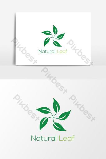 زهرة خضراء طبيعية شعار ناقلات عنصر الرسم صور PNG قالب AI