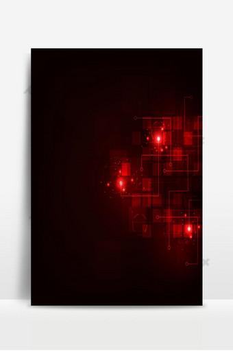 tecnología en el concepto de fondo rojo digital Fondos Modelo EPS
