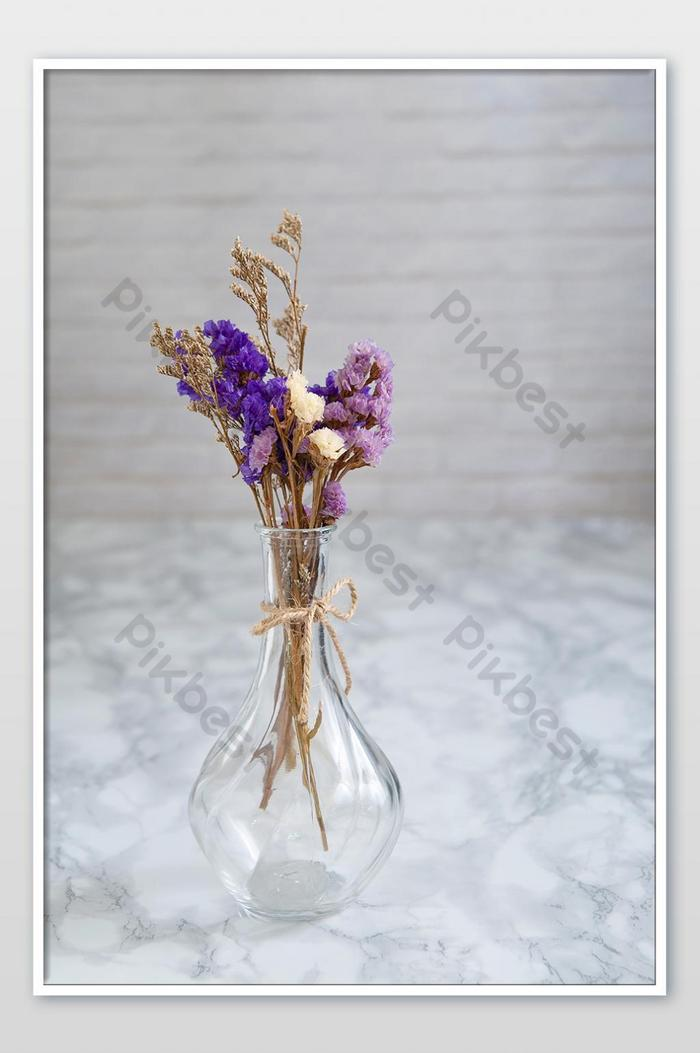 Bouquet Purple Dry Flowers And Bouquet Dry Caspia Flowers In Vase Photo Photo Jpg Free Download Pikbest