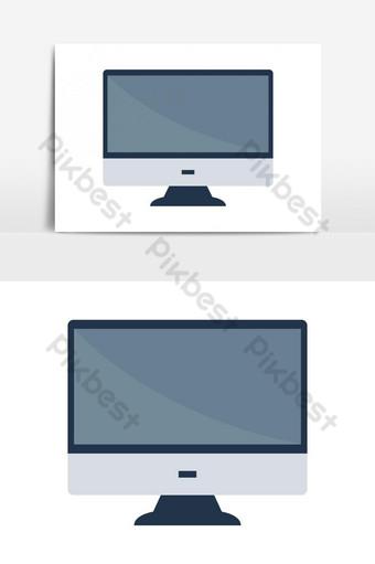 elemento gráfico de vector de icono de monitor de computadora Elementos graficos Modelo EPS