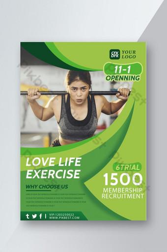 Dépliant de recrutement des membres de Sports Fitness Modèle PSD