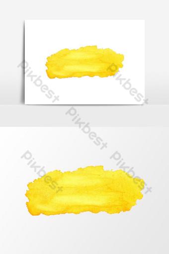 ألوان مائية القوام الأصفر ناقلات عنصر الرسم صور PNG قالب PSD