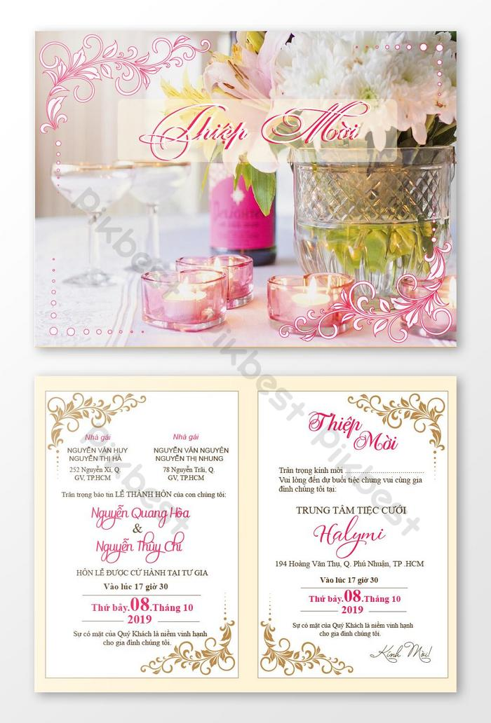 Beautiful Wedding Invitation Card For The Wedding Ai Free Download Pikbest