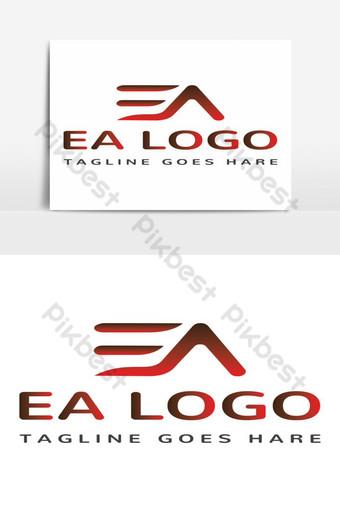 elemento gráfico de vector de diseño de logotipo de ea Elementos graficos Modelo AI