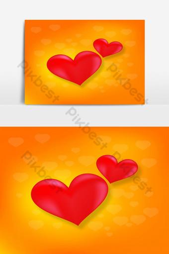 Tarjeta de corazón de amor para elemento gráfico de vector de día de San Valentín Elementos graficos Modelo EPS