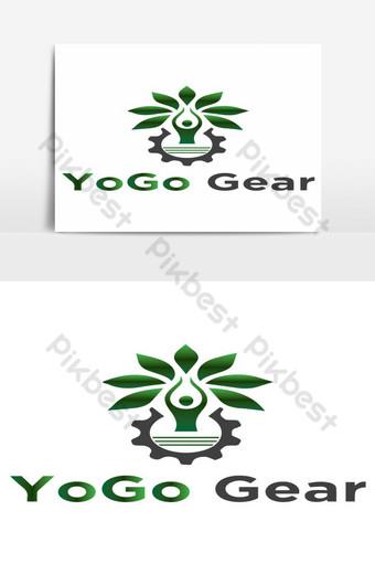 elemento gráfico de vector de diseño de logotipo de yogo Elementos graficos Modelo AI