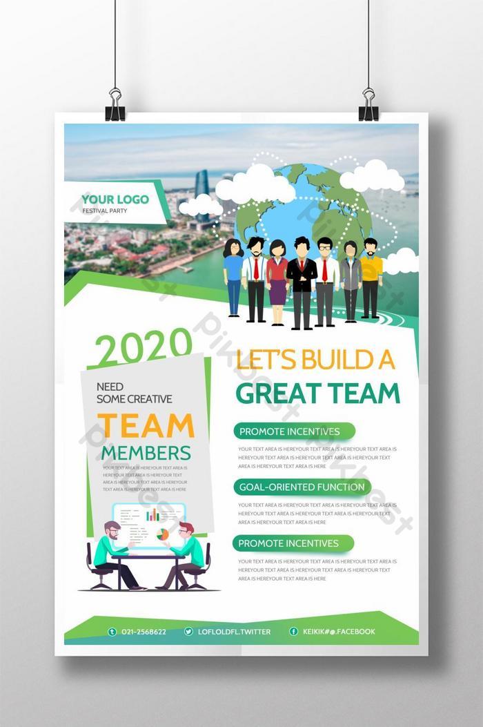 poster kreatif kerja berpasukan perniagaan